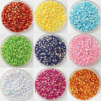 10000Pcs(30g) Size 3mm Cup Glistening Color loose sequins Paillettes sewing Wedd