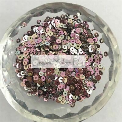 5000pcs/lot 3mm Rainbow Pink Flat Round Loose Sequins Paillette Sewing Craft for