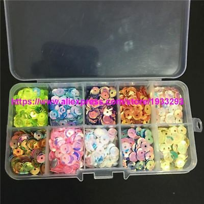 6mm Round Cup Brilliant 10 Color per set loose sequins Box packing Paillette Cra
