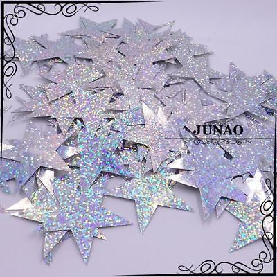 60mm Silver Gold Color Large Laser Star Sequins Sewing Flat Paillette For Clothe