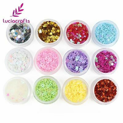 crafts 3-5mm Mixed 12 Colors Assorted Shape Loose Sequins Paillettes Flake Cup C