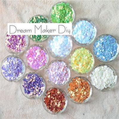 2000pcs(50G) 6*8mm Small Shell Brilliant Colors Loose PVC Sequins for Crafts Sew