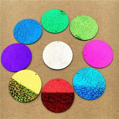 60pcs Large Round 50mm Sequins PVC flat Sequin Paillette sewing Hologram Sequins