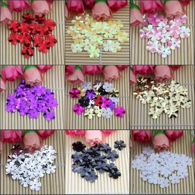 500pcs(30g) Size 14mm Cup Five Leaf Flowers loose sequin Paillettes sewing Weddi