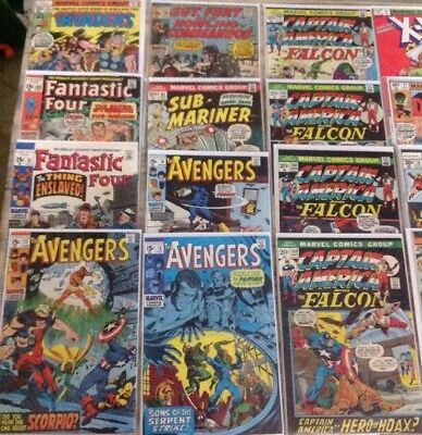 Marvel Comics Lot Of 40 Comics Bronze Age And 15 Cent Cover Prices