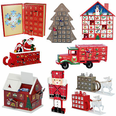Premier Christmas Wooden Advent Calendar - Add your own Treats - Choose Design