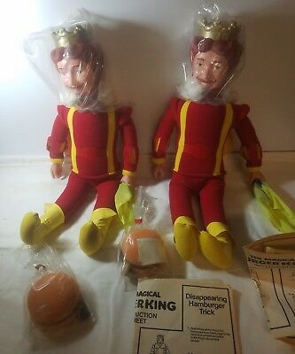 "Lot of 2 VINTAGE THE MAGICAL BURGER KING DOLL 20"" TALL 1980 KNICKERBOCKER"