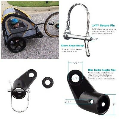 2pcs//set Bike Trailer Coupler Angled Elbow Hitch for InStep Schwinn Compatible