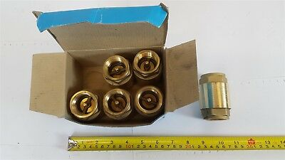 "Brevettato ""Europa"" Brass Check Valve -1"" itap - 6 pieces - 8023298009267 - New"