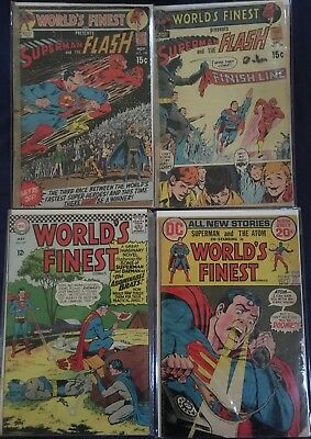 Huge Comic Lot 35+ Worlds Finest #157-299 DC Silver Bronze Superman Flash Joker