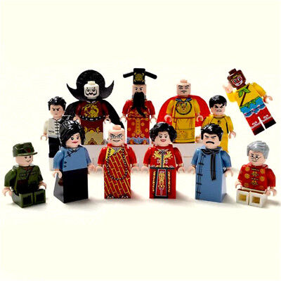 12pcs/Set Chinese Style Cartoon Figures Building Blocks Bricks Models Sets Toys