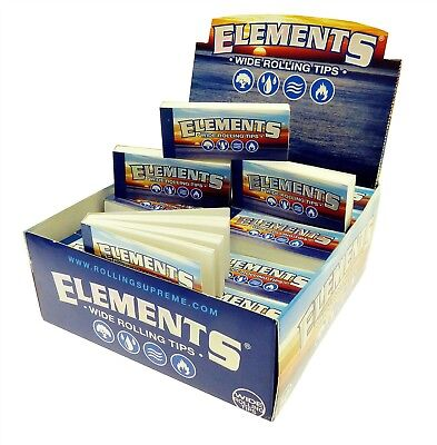 Elements Wide Rolling Filter Tips 50 PER BOX