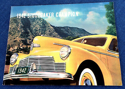 """1942 Studebaker Champion Dealer Sales Brochure 24 Pages 8 1/2"""" By 11"""" Nice!"""