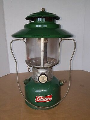 Vintage Coleman Lantern Model 228 F double mantel With Wide cover