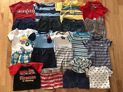 Baby boy Clothes 6-9-12 Months Summer Clothes Outfit Lot 21 pieces.Free shipp