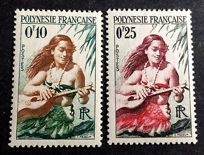 2 wonderful old stamps french Polynesia