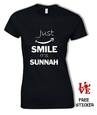 a006c32dd Just Smile It's Sunnah T-shirt Funny Arabic Muslim Inspired Islam Gift Top  Woman