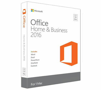 *Microsoft Office 2016 for Mac - Home and Business - 1 Mac User License*