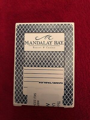The Mandalay Bay Resort and Casino - Las Vegas Used Playing Cards - Genuine used