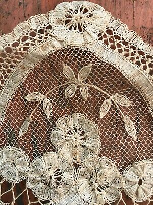 Antique Old 1800's Lace Exqusite Sewing Needlework Victorian