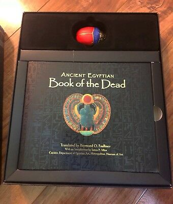 Ancient Egyptian Book Of The Dead With Wooden Scarab Gift Set