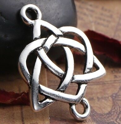 5PC Celtic Heart_Connector Charm Pendant Craft Wholesale Irish Knot_24x19mm