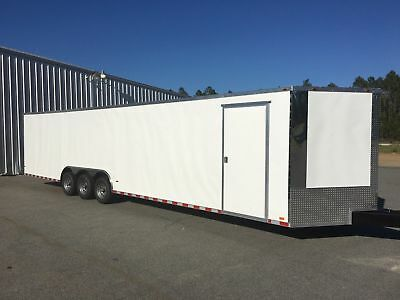 New 8.5X34 V-Nose Triple Axle Enclosed Cargo Trailer Car Toy Hauler 8.5X34