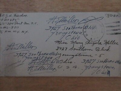 """WWII Letter """"enclosed, a small something from Sicily"""""""