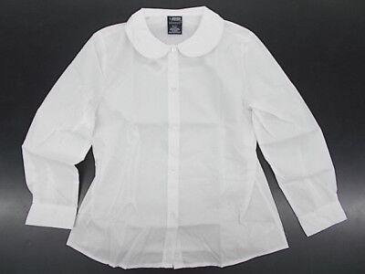 Toddler & Girls French Toast Uniform White Shirt w/ Peter Pan Collar Sz 2T-12.5