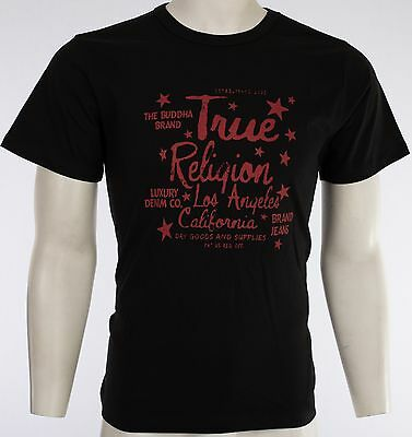 $44 TRUE RELIGION Stars T-SHIRT Black Red KIDS BOYS YOUTH SIZE LARGE L NWT
