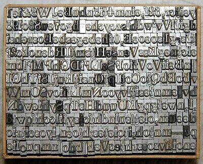 18pt Roman  Mixed part font # Metal  Letterpress Type   #  Adana user  #
