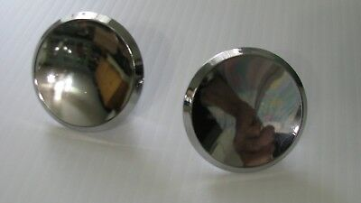 """Vintage 1950-60s New old stock 2"""" CHROME Drawer Knob Cabinet Door Pull Concave"""