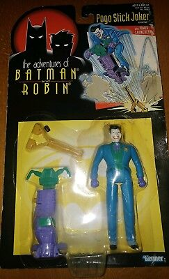 The Adventures Of Batman And Robin Pogo Stick Joker Sealed Kenner 1995 Figure