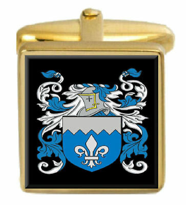 Select Gifts Beilby England Family Crest Surname Coat Of Arms Cufflinks Personalised Case
