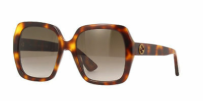 96fa69fd988d6 Gucci GG 0096S 002 Havana Brown   Brown Gradient Sunglasses NIB GG0096 54MM