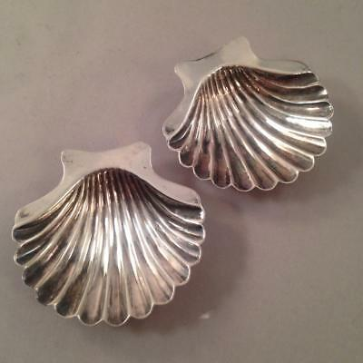 Small Sterling Shell Dishes Salts