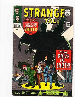 STRANGE TALES #137 Oct 1965 PRIZE IS EARTH Condition 2.0 GD DITKO ART