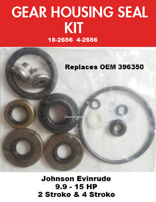 Evinrude Lower Unit Gear Case Seal Kit Fits 18 HP 18-2684 See Chart