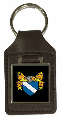 Select Gifts Leckey England Family Crest Surname Coat Of Arms Cufflinks Personalised Case