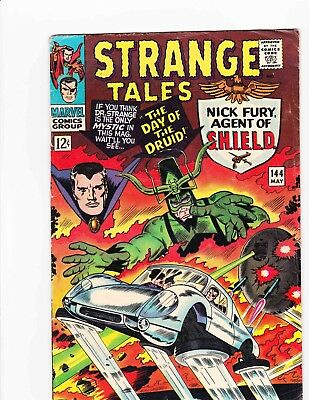 STRANGE TALES #144 May 1966 DAY OF THE DRUID Condition 3.0 GD/VG DITKO ART