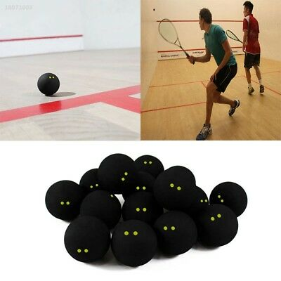 Squash Ball Two-Yellow Dots Low Speed Rubber Balls Professional Player 6846