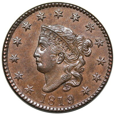 1819/8 Coronet Head Large Cent, N-1, PCGS MS61