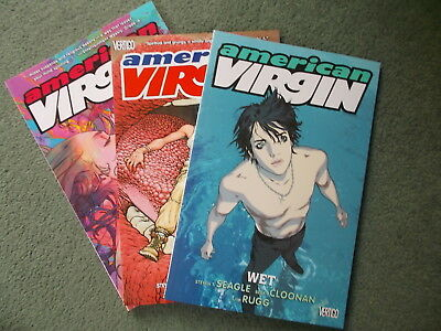 3 issues American Virgin: Paperback graphic Novels. collectors 1st editions mint