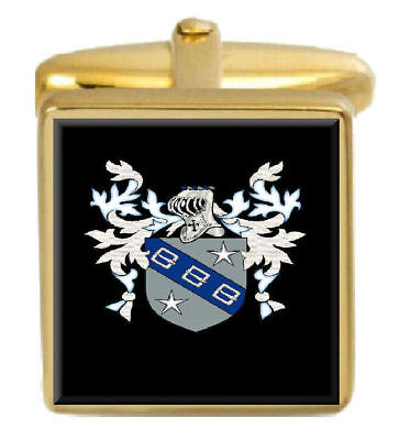 Select Gifts Stockton England Heraldry Crest Sterling Silver Cufflinks Engraved Box