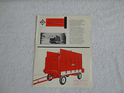 Vintage Allis Chalmers Tractor Power Feed Forage Box Sales Literature Brochure