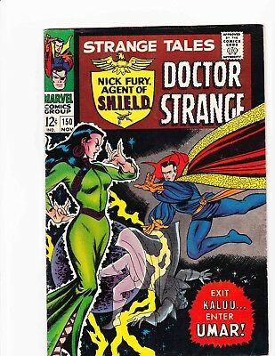 STRANGE TALES #150 Nov 1966 EXIT KALUU ENTER UMAR Condition 6.0 FN HYDRA