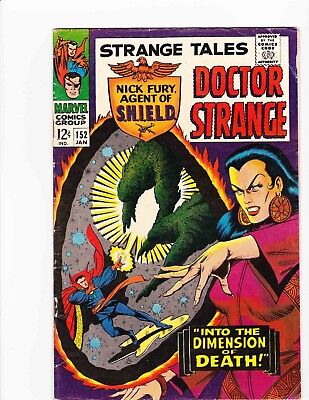 STRANGE TALES #152 Jan 1967 INTO THE DIMENSION OF DEATH Condition 6.0 FN HYDRA