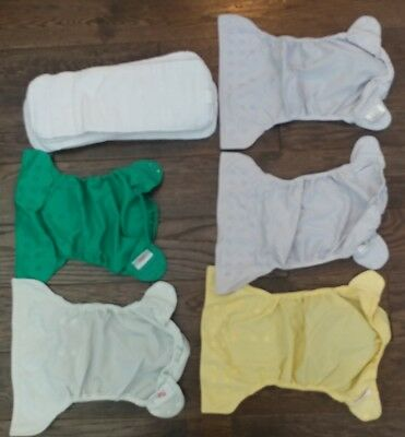 Group Lot of 5 Flip Diaper Covers and 5 Flip Diaper Inserts