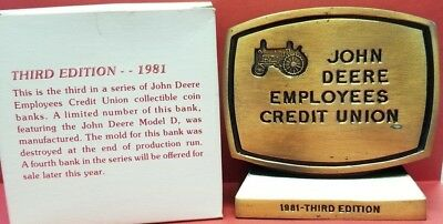 1981 John Deere Employees Credit Union Bank - LIMITED THIRD EDITION