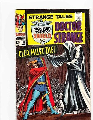 STRANGE TALES #154 Mar 1967 CLEA MUST DIE Condition 6.5 FN+ JIM STERANKO ART